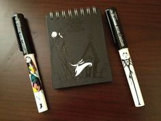 Nightmare Before Christmas Little Notebook With Black Pages ,Sally & Jack Pen | the Nightmare Before Christmas Collectionary