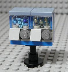 Lego Custom Blue GUMBALL MACHINE Dual Minifigures Furniture Food x 1PC