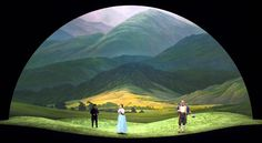 Landscape set for 'Luisa Miller', 2008 - Opera. This set transports you to an alpine world.