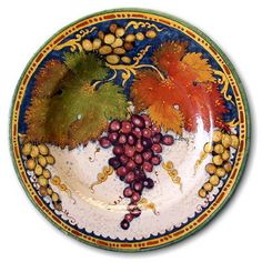 Artistica - Italian Ceramics Deruta and Vietri Dinnerware. Ceramic ArtCeramic PlatesDecorative ...  sc 1 st  Pinterest & Italian Ceramic Art Pottery Plate Serving Tray Lemon Handmade in ...