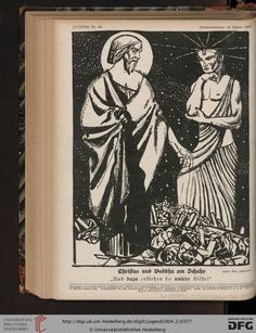 The Buddha and Christ, Jugend, German illustrated weekly magazine for art and life, Volume 9.2, 1904.
