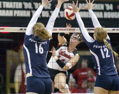 Husker volleyball team gutted out a five-set victory over No. 1 Penn State.  werth