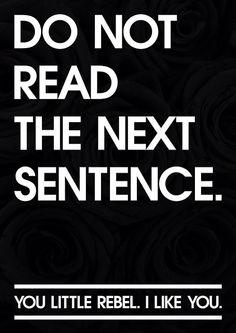 Haha! I read that next sentence!