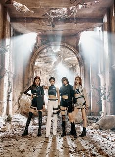 Blackpink released their new MV titled Kill This Love on April and after the first post with concept photos of the Blackpink members, here are more photos in bigger size and quality, for Blackpink Jisoo, Kpop Girl Groups, Korean Girl Groups, Kpop Girls, K Pop, Mode Kpop, Black Pink Kpop, Black Pink Rose, Blackpink Members