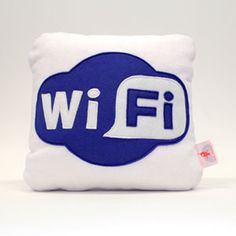 wifi cushion. 3 different sizes for anyone with a keen eye for geek chic and soft spot for being connected 24/7.