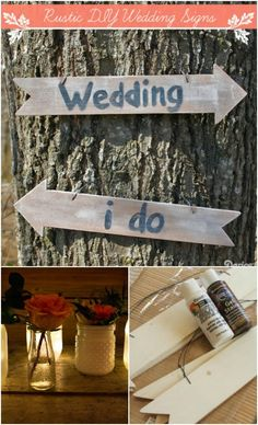 Rustic Wedding Signs via darice