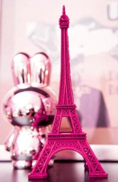 Paris in pink. I have this same eiffel tower figurine. I miss Paris Color Rosa, Pink Color, Pink Purple, Hot Pink, Pastel Pink, Magenta, Pink Love, Pretty In Pink, Ines Fressange