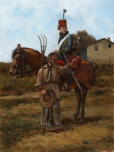 Austrian Hussar and Italian Peasant Regiment- Erzherzog Josef Anton-Keith Rocco Military Weapons, Military Art, Military History, Austrian Empire, Austro Hungarian, French Army, Napoleonic Wars, Toy Soldiers, Artist