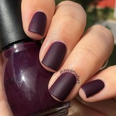 Matte fall nail polish. (@sinfulcolors_official High Spirits) with a matte top coat.