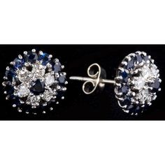 Sapphire and Diamond Earrings, Garrard & Co. Sold $1,200.