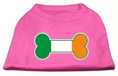 Bone Flag Ireland Screen Print Shirt Bright Pink Med (12)