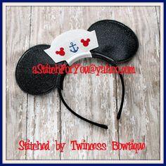 Mouse Ear Headband - Sailor Hat