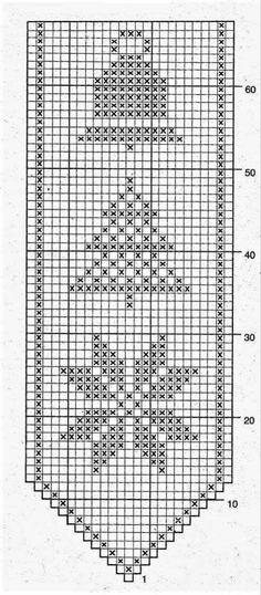 Cross Stitch Embroidery, Cross Stitch Patterns, Knitting Patterns, Holiday Crochet, Christmas Knitting, Fillet Crochet, Crochet Table Runner, Crochet Diagram, Embroidery