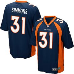 Men's Nike Denver Broncos #31 Justin Simmons Game Navy Blue Alternate NFL Jersey