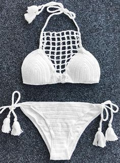 It's your one stop swimsuit for killing it every time. Hot Sale & Free Shipping! What better time than now to treat yourself to a new Halter Crochet Bikini Set! Better quality and service now! Find this surprise now at Cupshe.com !