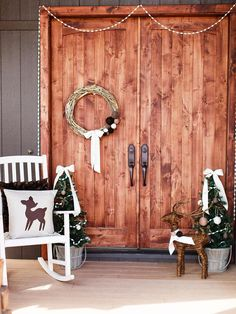 Home for the Holidays  - 8 Easy Front Porch Holiday Decorating Ideas  on HGTV