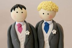 Custom made cake toppers.  Adorable.
