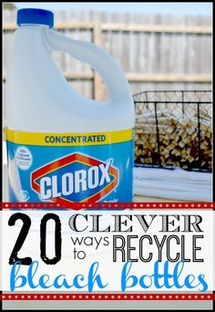 20 Clever Ways to Recycle Bleach Bottles - Tipsaholic.com #bleach #crafts #recycle #green