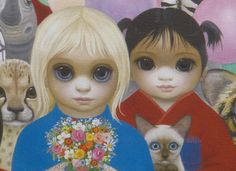 """The """"Big Eyes"""" paintings of Margaret Keane - In the 1960s her images of tearful tots with eyes as big as saucers became known around the world"""