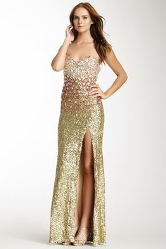 La Femme Ombre Sequin Jeweled Bodice Gown by Non Specific on @HauteLook