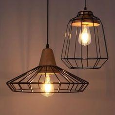 Barato Nordic país da américa iluminação vindima luz pingente de gaiola luminária luminária Industrial Edison Lampe Deco, Compro Qualidade Luzes de pingente diretamente de fornecedores da China: