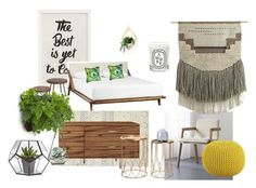 """""""The Guest Room"""" by inbardan ❤ liked on Polyvore featuring interior, interiors, interior design, home, home decor, interior decorating, CB2, Pottery Barn, Diptyque and Dot & Bo"""