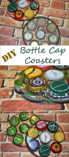 DIY Bottle Cap Coaster tutorial. Great gifts for beer lovers!
