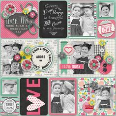 It´s My Life 3 Template by Two Tiny Turtles http://scrapstacks.com/shop/It-s-My-Life-3.html DigiScrap Parade-For The Love Of