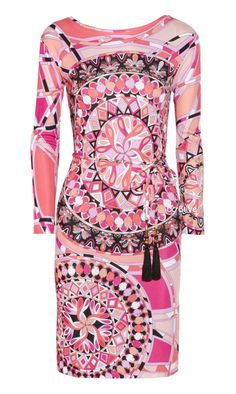 Emilio Pucci Printed Jersey Dress -- not my style for wearing, but pattern and placement is cool