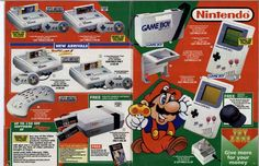 from Argos Christmas 1993 Nes Collection, Video Game Collection, All Video Games, Retro Video Games, Pac Man, Retro Game Systems, Playstation, Mega Drive Games, Gaming Magazines