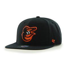 Baltimore Orioles Sure Shot Black 47 Brand Adjustable Hat d16fbb70e9e3