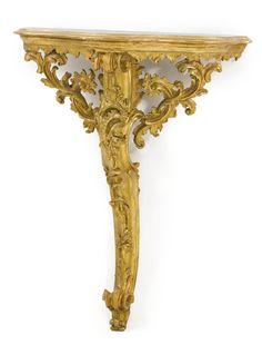 date unspecified An Italian Rococo carved giltwood console d'applique century Estimate — USD. Entryway Decor, Entryway Tables, Italian Baroque, Modern Art, Contemporary, Marble Top, Rococo, Art Decor, Home Decor