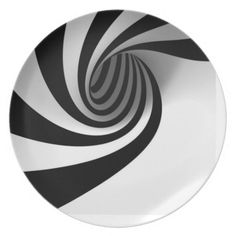 Shop Black and White Swirl Plate created by Yourpezz. White Art, Black And White, Custom Plates, Illusion Art, Vector Shapes, Optical Illusions, Pattern Wallpaper, Doodle Art, Wallpaper Backgrounds