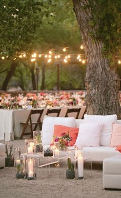 Once you check out this collection of 20 Dreamy Woodland Weddings, you'll be sure that a natural, outdoor setting is perfect for your big day. Plus, plenty of string lighting can go a long way in adding charm to your reception space.