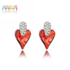 2017 Fashion Love Heart Earrings Jewelry Rhodium Plated Crystal From  Swarovski Stones Earrings  90412 f649bbec60
