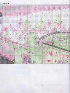 Gallery.ru : 58savinkina Santa Cross Stitch, Cross Stitch Christmas Stockings, Cross Stitch Boards, Christmas Cross, Counted Cross Stitch Patterns, Cross Stitch Designs, Cross Stitch Embroidery, Christmas Ornaments, Santa Express
