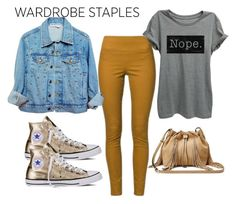 """""""Untitled #127"""" by koogy ❤ liked on Polyvore featuring Converse, Diane Von Furstenberg, Leggings and WardrobeStaples"""