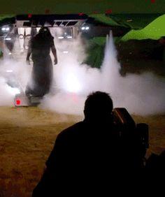 Adam Driver BTS of Star Wars: The Force Awakens