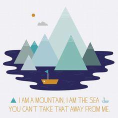 I am a Mountain Art Print  - Joanne Hawker