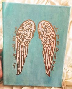 """Pi Beta Phi angel wing craft """"Why walk with the rest, when you can fly with the best!"""" #piphi #pibetaphi"""