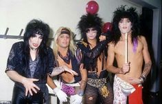 Mick, Vince, nikki and Tommy