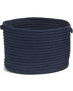 Love this nautical rope basket #coastal