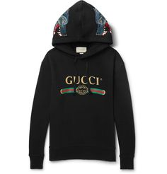 GUCCI GLITTERED EMBROIDERED COTTON-JERSEY HOODIE. #gucci #cloth #
