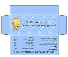 Star Wars Baby Shower or Gender Reveal Candy Bar Wrappers - Hershey Bar 1.55 Oz