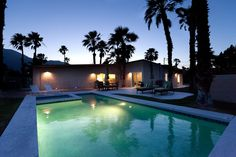 * Spacious, private yard with lots of palm trees and mountain view - Mid-Century Modern, Bikes, Pebble Tec Pool & Spa! -  - rentals Sleeps 6, $708/2 nights