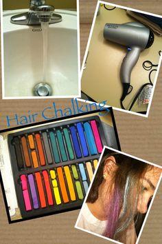 Hair chalking pigment technique