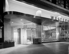Western Airlines | Southwest corner of 6th and Olive Downtown, Los Angeles, CA | Photo: Maynard L. Parker #mcm #architecture