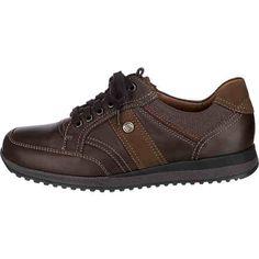 Diese WALDLÄUFER Hagen Freizeit Schuhe punkten in Sachen Komfort durch die besonders weich gepolsterte Lederdecksohle, welche sich bei Bedarf auswechseln lässt. Das Obermaterial besteht aus geschmeidigem Glattleder mit Textildetails am Einstieg. <br /> <br /> - mit dezenten Ziernähten <br /> - mit Overlay Akzenten <br /> - leicht gepolsterte Einstiegskante <br /> - Verschluss: Schnürung <br /> - besonders verstärkter Zehen- und...