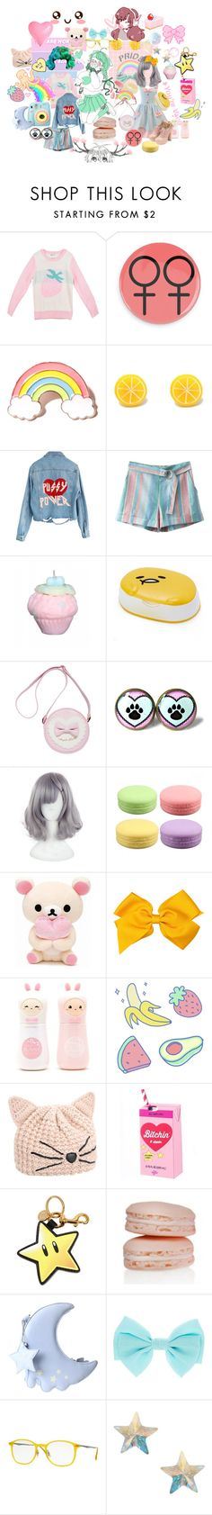 """""""Pansexual pride"""" by disney-loves-mel ❤ liked on Polyvore featuring Local Heroes, Polaroid, High Heels Suicide, My Little Day, TONYMOLY, Karl Lagerfeld, Moschino, Opal London, Ray-Ban and Orelia"""