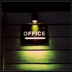 Office in the night.